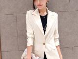 2015春秋装新款韩版修身小西装女中长款小西服休闲西装女式外套