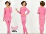 猫人内衣专柜正品女棉莱卡基础圆领保暖内衣套装