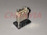 立式贴片USB3.1母座TYPE C连接器双排针24P白胶