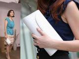 网络新款女包夏季 韩版明星同款晚宴包漆皮手抓包单肩斜跨包