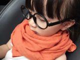 韩版儿童围巾春秋款男女童纯色棉麻宝宝围脖亲子款百搭一件代发