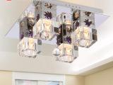 照明灯具现代水晶灯饰厂家直销LED吸顶灯方形餐厅卧室灯CC801