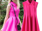 一件代发 春夏新款欧美风ASOS同款无袖花瓣翻领连衣裙210
