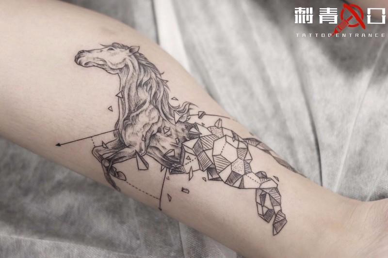 上海纹身 闵行纹身 马纹身