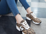2014新款潮运动休闲韩版帆布女单鞋时尚坡跟圆头韩国女鞋n字鞋女