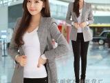 日韩品牌新款修身千鸟格小西装 冬季女士小西装外套女装批发