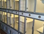 龍貓柜籠實木天然生態板別墅寵物柜籠 鋁合金柜門相親柜籠