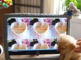 厂家直销芭芭艺电脑罩毛绒玩具电脑套电脑防尘罩液晶显示器套帽熊