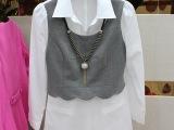 大码女士衬衣2015春秋新品韩版翻领白衬衫上衣女打底衬衫女长袖