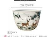 景德镇陶瓷鱼缸睡莲盆盆栽大口径家用办公庭院摆件