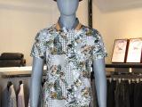 夏季男士休闲棉质合体型喜登鸟翻领套头时尚短袖T恤