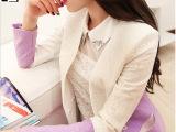 2014秋装新款高端品牌韩版气质蕾丝小香风长袖小西装女装外套