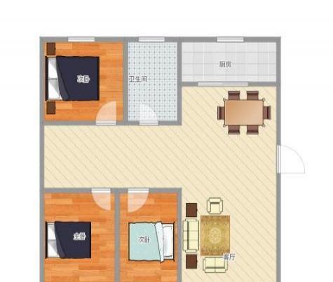 明日世纪花园3室2厅2卫1阳台127 带超大入户花园
