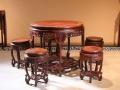 红酸枝十件圆餐桌价格