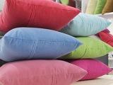 素纯色抱枕靠垫 办公室汽车车用 糖果色大沙发床上靠枕芯腰垫特价