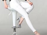胖mm夏季新款女装时尚显瘦铅笔裤修身小脚裤糖果色休闲裤大码裤子
