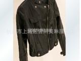 大量供应欧美机车皮衣女装外套 女款修身皮夹克 短款小外套女