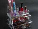 桌面透明化妆品收纳盒有机玻璃亚克力抽屉首饰多层整理用具
