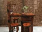 老船木茶桌椅组合功夫茶桌创意茶几茶台船木吧台