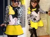 童装 代销 厂家直销 2014春秋装新款 韩版女童装 儿童米奇套