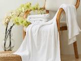 宾馆酒店布草 纯棉纯色浴巾 加厚32支纱 平织现货 可提织刺绣l