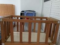 婴儿床,实木,无油漆,安全