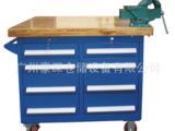 厂家供应订做4S汽车维修店带挂板虎钳维修专用工具车 汽修工具车