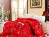米舍尔家纺 活性磨毛大红婚庆秋冬被 加厚纤维被芯 厂家直销