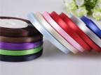 2分彩色环保单面双面色丁涤纶缎带定做批发礼品包装红色金色丝带