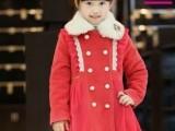 2013秋冬新品笛莎女童装儿童韩版长款中大童外套呢子大衣