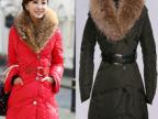 冬季2013新款超大毛领中长款女士韩版修身显瘦羽绒服批发