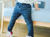 2015秋款儿童针织弹力牛仔裤柔软韩版纯棉长裤中小童外贸原单品牌
