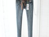 2014韩版女装 秋季新款 时尚显瘦小脚裤铅笔裤女式弹力牛仔裤1