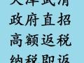 税收筹划首选,天津武清政府直招,高额返税,按月兑现,欢迎咨询