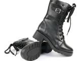 3515强人正品羊毛军靴女靴女鞋时尚中筒靴骑士靴机车靴雪地