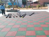 惠州小区户外安全地胶 公园橡胶地垫厂家