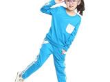 2014秋款女童童套装 儿童卫衣童装口袋套头休闲运动两件套套装