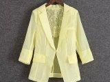 拉夏2014淑女装新款薄款西装西服防晒外套10005657