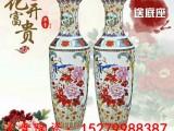 景德镇陶瓷器简欧式落地大花瓶插花现代中式客厅装饰品电视柜摆件