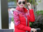 2015冬季新款棉衣女短款修身韩版女式小棉袄外套印花立领羽绒棉服