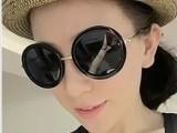 范爷大爱复古圆框太阳镜/街拍时尚必备墨镜优雅开车镜 77356