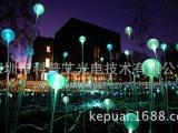 园林光纤装饰、光纤球泡芦苇灯,户外景观芦