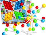 供应优质优价儿童玩具积木球 百变插珠益智3D三维立体积木