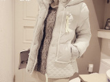 XMO 欧洲站 冬装新款潮韩版时尚修身军工装羽绒服女加厚短款外套
