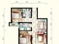 潮白河孔雀城潮白家园 南向两居室,中高楼层,毛坯房
