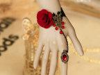 时尚DIY欧美外贸蕾丝花朵复古手链戒指套装新娘小饰品招代理WS-54
