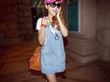 厂家直销 韩版少女学生装中学生宽松背带裙