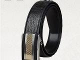 SL泰国正宗鳄鱼皮皮带 男士2013新款自动扣真皮手工腰带正品