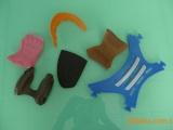 塑胶制品射出片TPU射出片港宝眼扣赛车鞋饰片拖鞋面塑胶产品