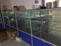 低价处理8成新玻璃柜台和玻璃展柜货架 !